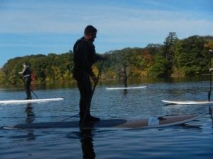 Henry in the foreground and me in the background, rockin' our new SUP skills! Photo courtesy of Alice's Awesome Adventures