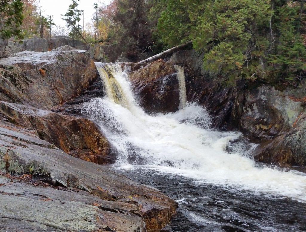 Smalls Falls top falls.