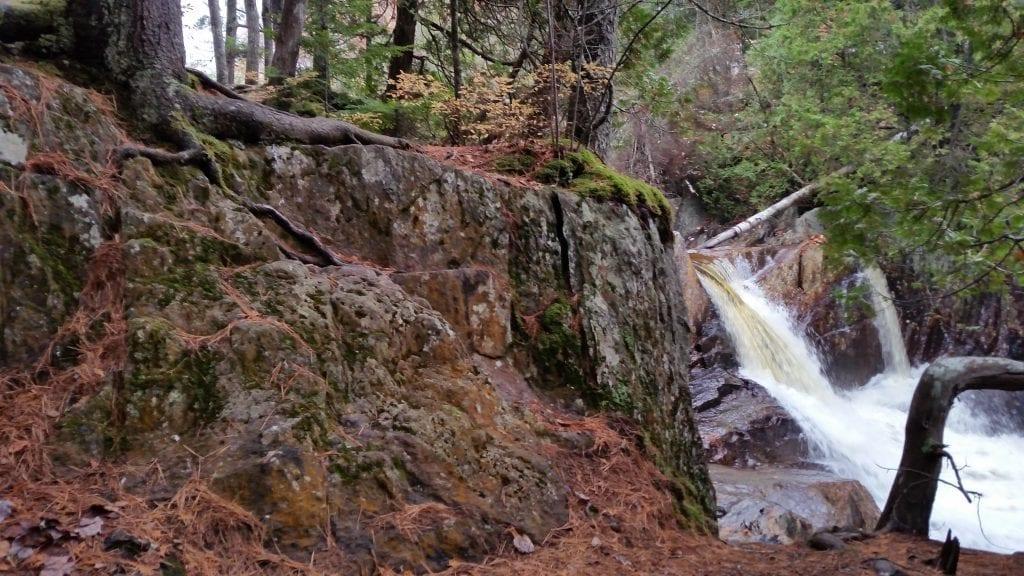 Smalls Falls trail terrain.