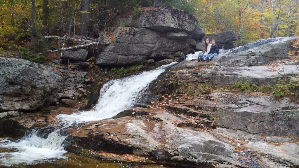 Step Falls waterfall in Maine