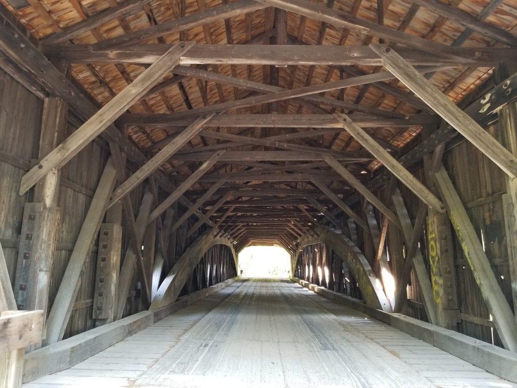 Hemlock Covered Bridge in Fryeburg, Maine.