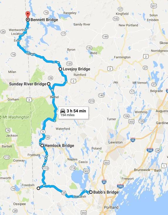 Maine Covered Bridge Road Trip Challenge