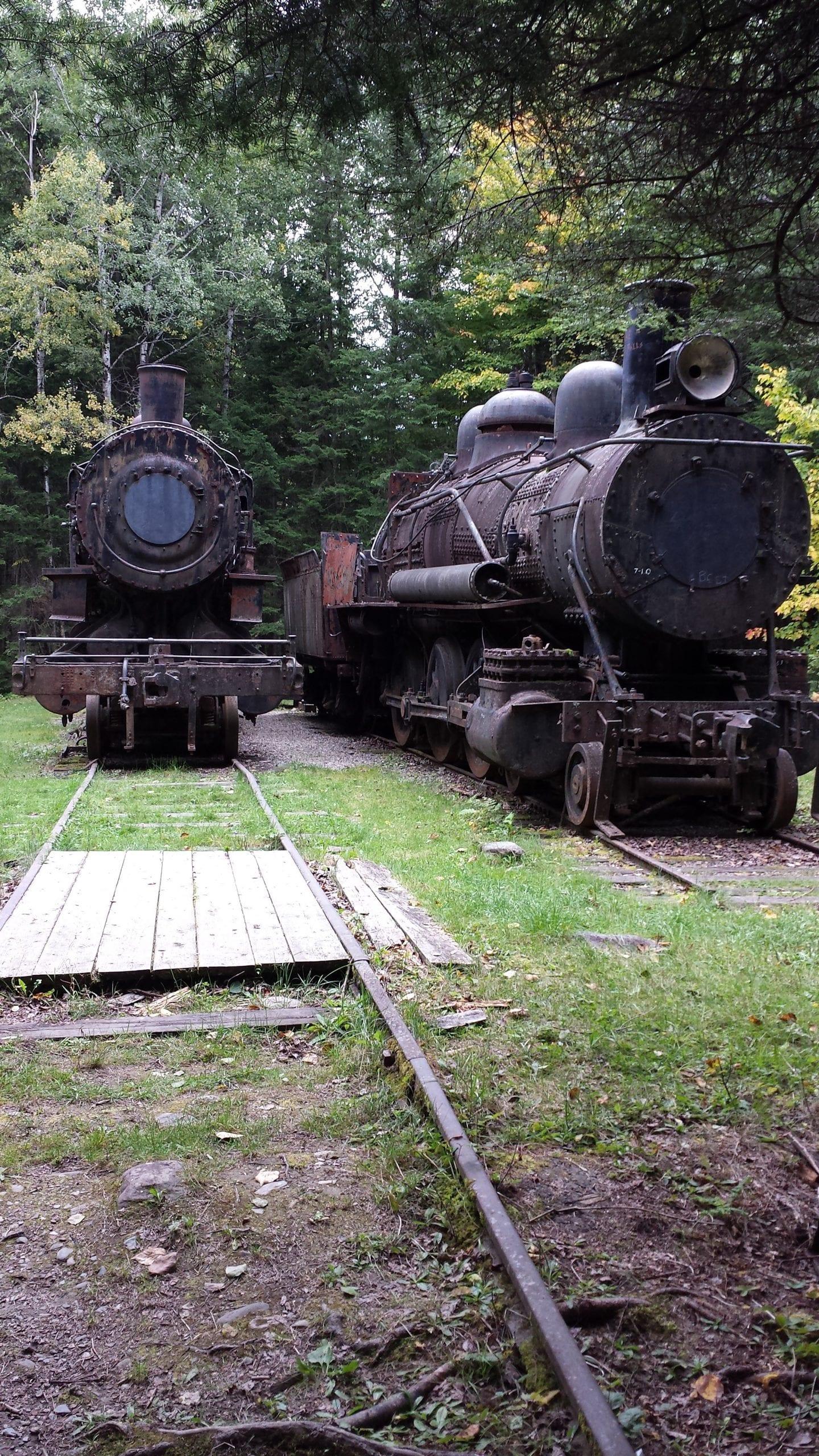 "Abandoned Locomotives ""Ghost Trains,"" Allagash Wilderness Waterway"